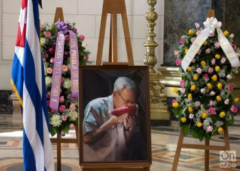 Funeral honors for City of Havana Historian Eusebio Leal, at the National Capitol, on December 17, 2020. Photo: Otmaro Rodríguez.