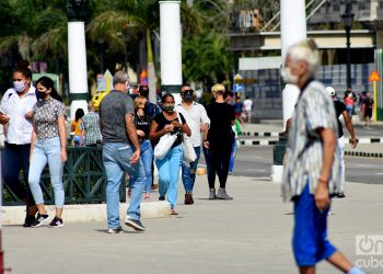 People in Havana, during the outbreak of coronavirus in early January 2021. Photo: Otmaro Rodríguez.