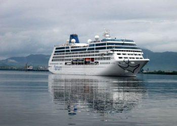 Carnival's Adonia cruise ship entering the port of Santiago de Cuba. Photo: Prensa Latina/Archive.