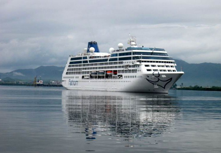 Carnival's Adonia cruise ship entering the port of Santiago de Cuba. Photo: Prensa Latina/Archive.