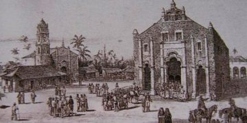 Township of San Juan de los Remedios, 19th century. Engraving by Federico Mialhe.