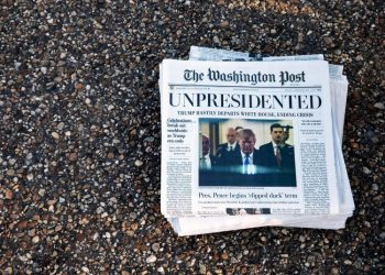 Front page of the Washington Post the day Trump left the White House. | Archive