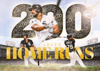 José Abreu became the fifth Chicago White Sox player with 200 home runs in MLB. Photo: Chicago White Sox.