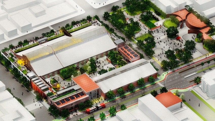 Model of the Línea Station Cultural Center.