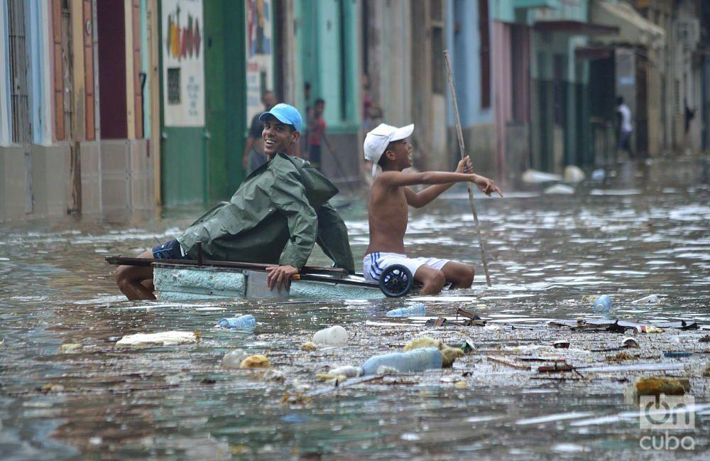 Inundaciones en La Habana provocadas por el huracán Irma. Foto: Otmaro Rodríguez.