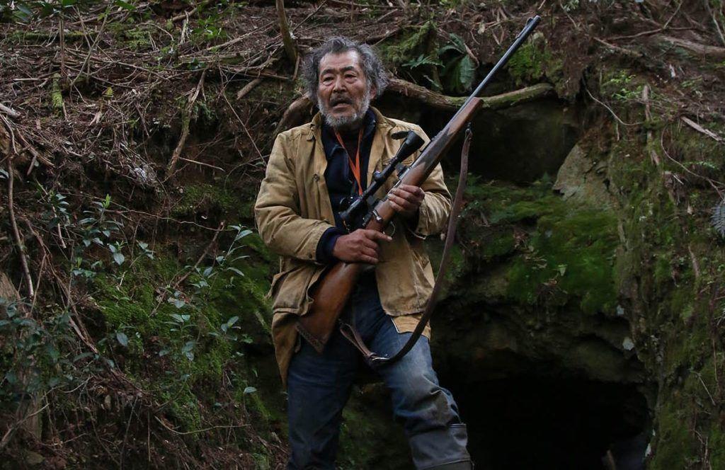"""El célebre intérprete japonés Fuji Tatsuya en """"Los lobos del Este"""". Fotograma cortesía de Carlos Quintela."""
