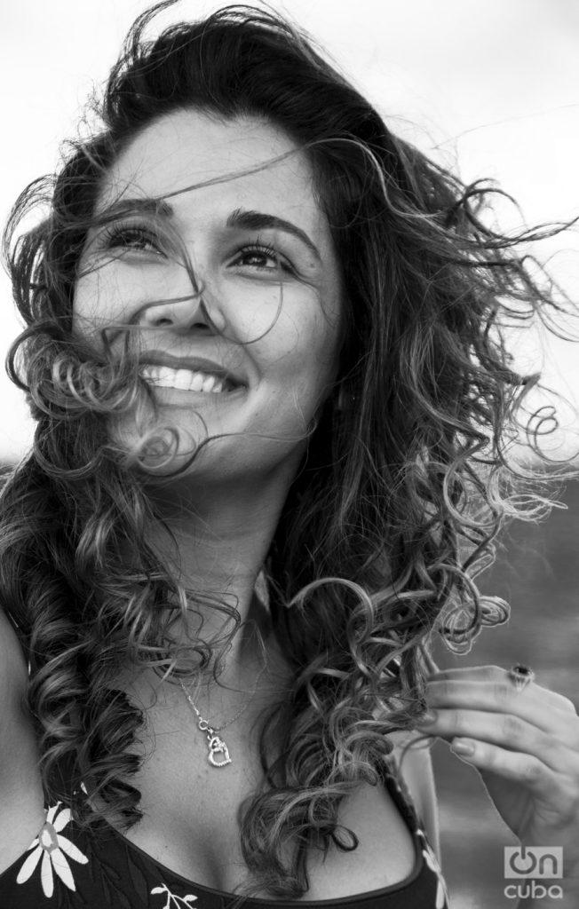 Camila Arteche, uno de los rostros recientes de la actuación en Cuba. Foto: Claudio Pelaez Sordo.