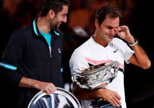 Federer llora en Winbledom. Foto: Michael Dodge / Getty.