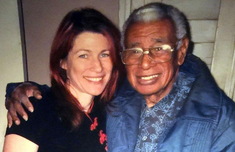 Donna con Richard Egües. Foto: cortesía de Donna Marie Factor.
