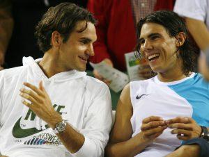 Federer y Nadal son rivales en la cancha pero amigos fuera de esta. Foto: puntodebreak.com.