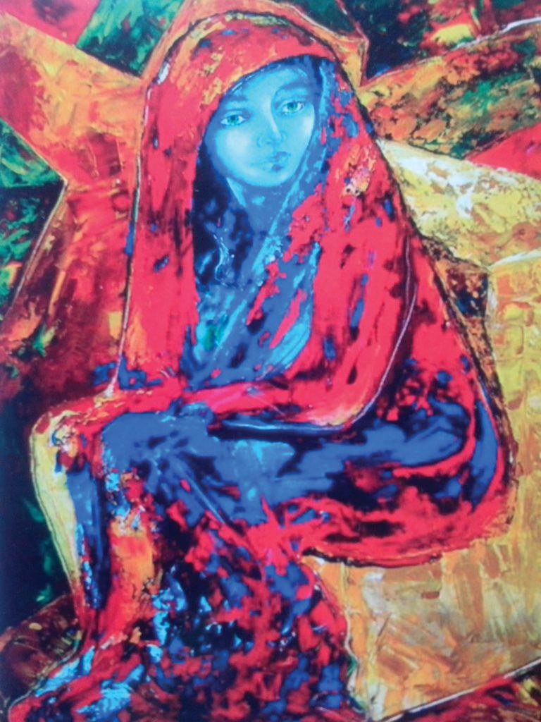 Dolores Rondón retratada por la pintora camagüeyana Alejandrina Silvera Guerra en acrílico sobre lienzo. Imagen: Cortesía de la autora.