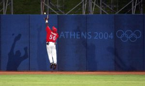 En Atenas 2004, Tabares hizo su fildeo más recordado. Foto: Getty Images.