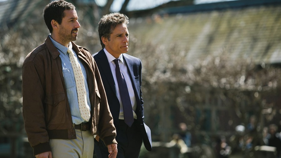 "Adam Sandler y Ben Stiller en ""The Meyerowitz Stories"". Foto: Daily Beast."