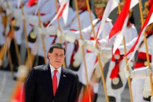 El presidente paraguayo Horacio Cartes dejará el poder en agosto próximo después de cinco años. Foto: Eraldo Peres / AP.