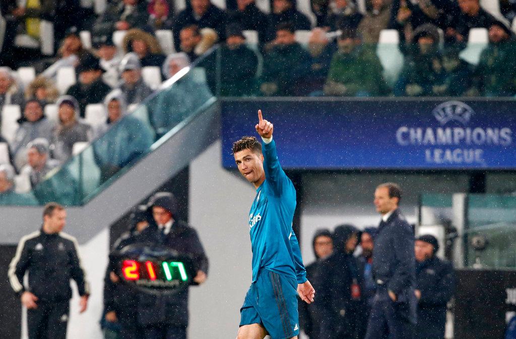 Cristiano Ronaldo festeja. Foto: Antonio Calanni / AP.
