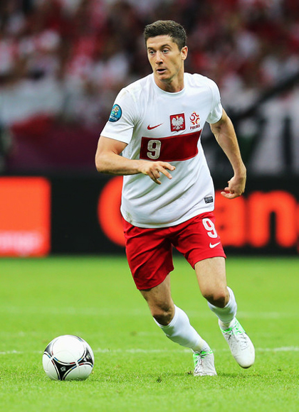 En el ascenso de Polonia mucho han tenido que ver los goles de Robert Lewandowski. Foto: zimbio.com.