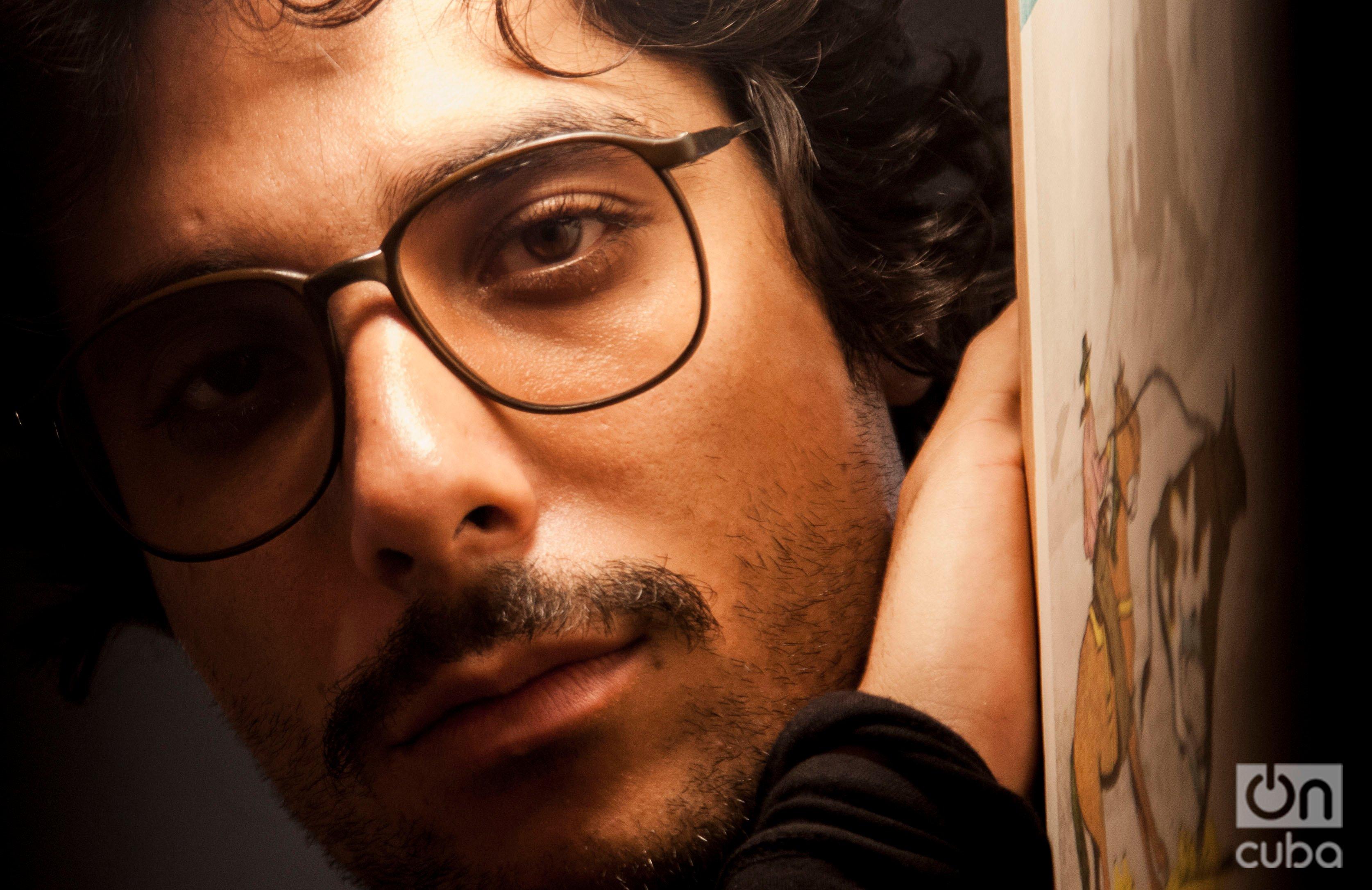 """""""Al principio yo no quería cantar, quería ser Carlos Santana y ya está"""". Foto: Claudio Pelaez Sordo."""