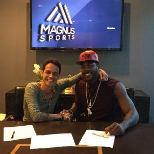 Marc Anthony y Aroldis Chapman. Foto: marcanthonyonline.com