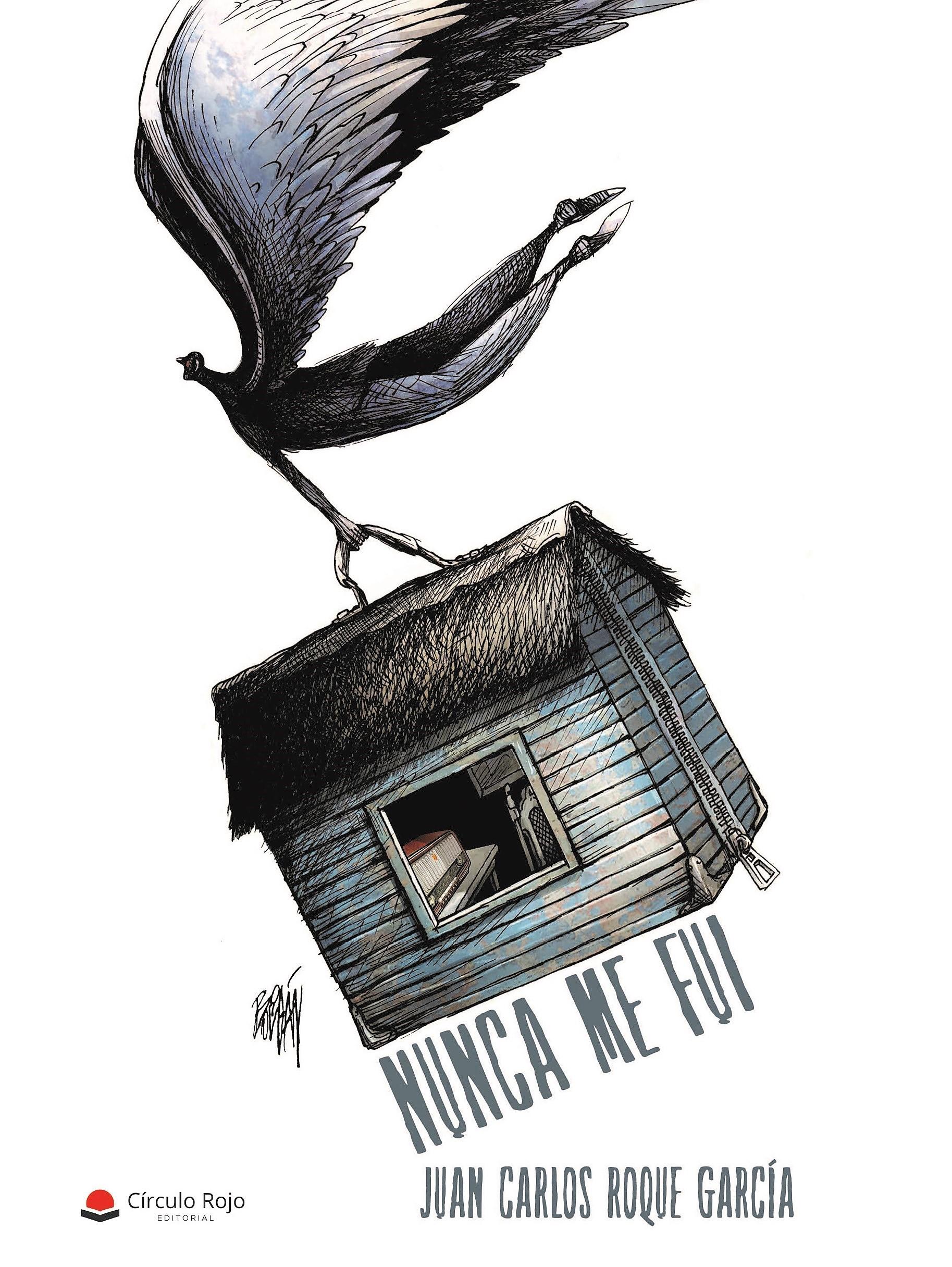 """Cubierta de """"Nunca me fui"""", que se presentará el 25 de mayo en Madrid. Dibujo: Ángel Boligán."""