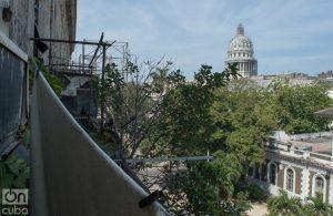 Vista desde Zulueta 505, por la calle Dragones .Foto: Otmaro Rodríguez.