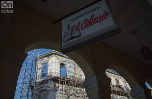 La esquina derrumbada de Zulueta 505 vista desde el exterior. Foto: Otmaro Rodríguez.