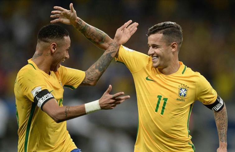 Para Brasil, las mayores oportunidad dependerán del talento de jugadores como Neymar y Coutinho. Foto: sport.es