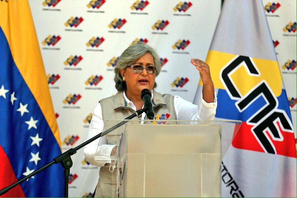Tibisay Lucena, presidenta del Consejo Nacional Electoral. Foto: El Universal.