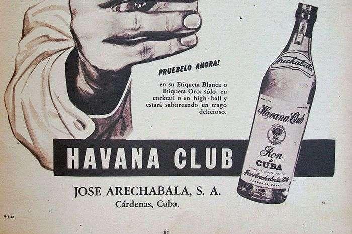 Publicidad del ron Havana Club fabricado por Arechabala. Foto: Archivos de Bohemia
