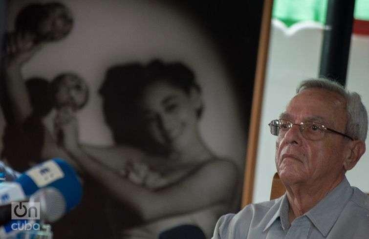 """El Historiador de La Habana, Eusebio Leal, en la presentación del disco """"Omara siempre"""". Foto: Otmaro Rodríguez."""