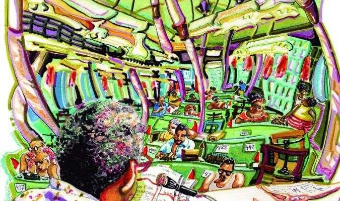 """Una de las ilustraciones de Roberto Sánchez Terreros para el libro """"Cuba y el Tabaco"""". Foto: El Correo de Andalucía."""
