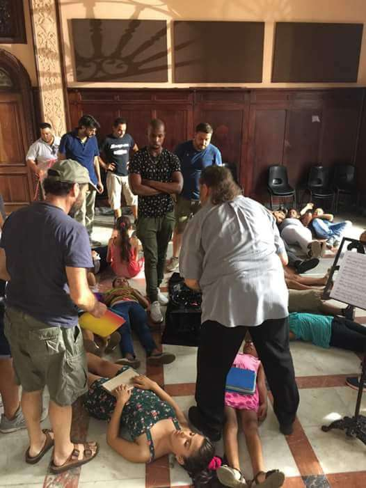 Rodaje del filme Havana Kyrie. Foto: RTV Comercial.