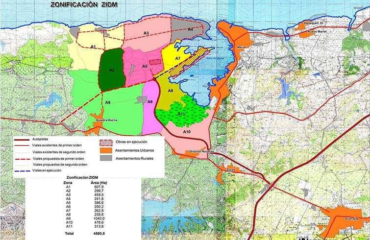 "Special Development Zone Mariel layout of Area ""A"" / Source: Special Development Zone"