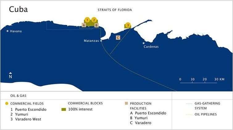 Sherritt operations northeast of Cuba / Source: Sherritt Company´s Website
