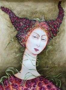De la serie el Circo. Técnica, Mixta (acuarela,acrílico,cartulina) 2013