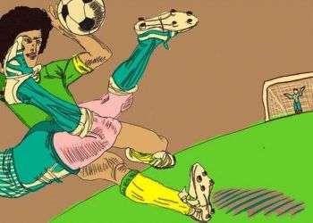 Caricatura sobre Fútbol/Imagen de Claudia Soto Pinckney