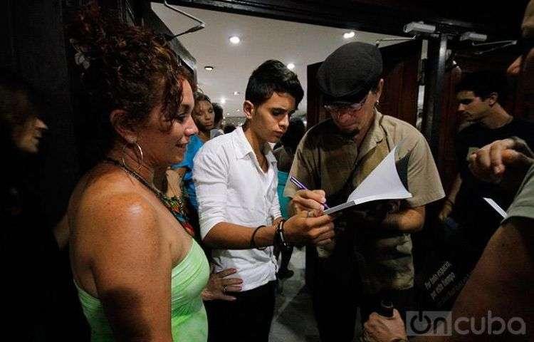 Presentación del documental Canción de barrio / Foto: Carla Valdés.