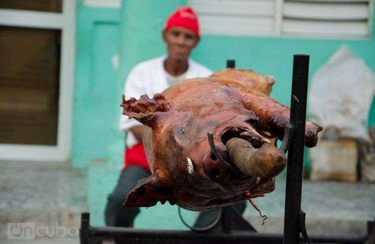 Típico cerdo asado en Guantánamo