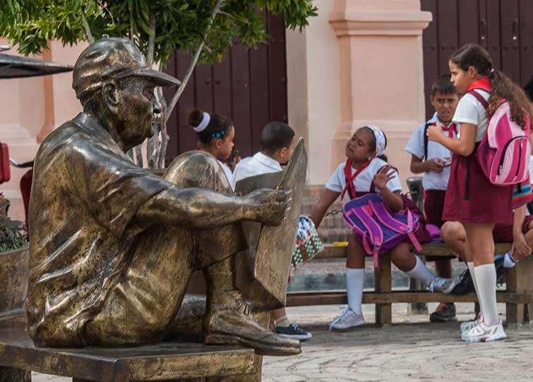 Escultura de la Plaza del Carmen / Foto: Leandro Armando Pérez Pérez