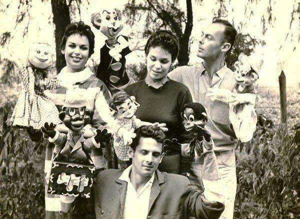 Carucha, Bertica and Pepe Camejo, under Pepe Carril, in the 50s / Photo courtesy of the author