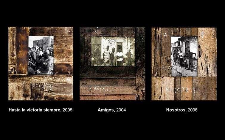 Algunas obras de Roberto Diago, uno de los artistas cubanos más cotizados en el momento actual