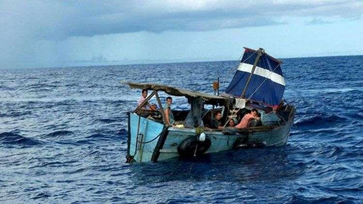 FFoto de archivo de balseros cubanos. Foto: EFE / Archivo.