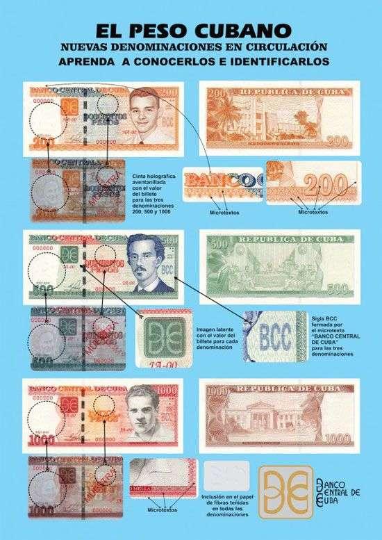 características nuevos billetes cuba