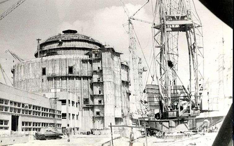 Construcción de la Central Nuclear de Juraguá / Foto: Diario Juventud Rebelde 11-8-1992