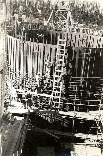 Construcción de la Central Nuclear de Juraguá / Foto: Diario Juventud Rebelde