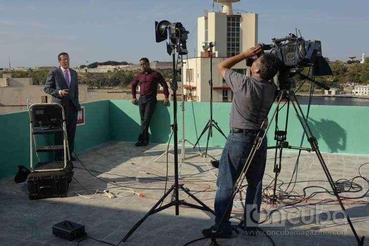 Richard Quest durante la grabación de su programa en La Habana / Fotos: Alain L.Gutierrez Almeida;