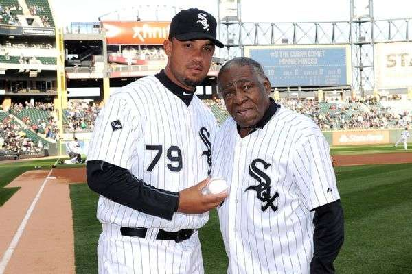 José Dariel Abreu, Cuban baseball player in the current squad of Chicago White Sox with Minoso.