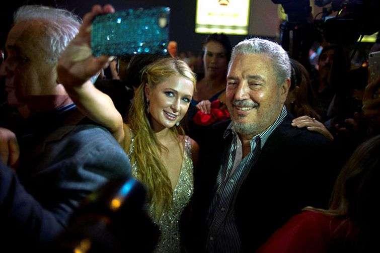 Paris Hilton and Fidel Castro Diaz-Balart / Photo: AP