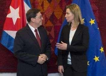Bruno Rodríguez y Federica Mogherini