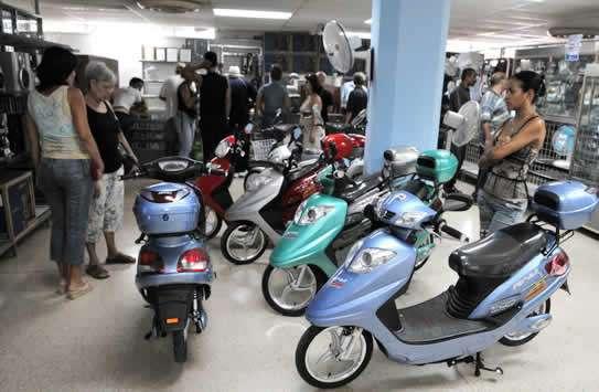 Motorinas en tiendas AP