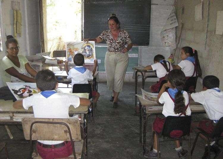 Escuela rural cubana./ Foto: Milka Miranda Rivero